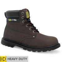Heavy Duty Brown Goodyear Welted Safety Boot - HD33P