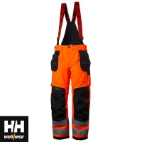 Helly Hansen Alna Class 2 Winter Construction Trousers with Braces - 71495