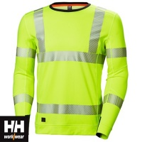 Helly Hansen Lifa Active Hi Vis Crewneck Baselayer Top - 75111
