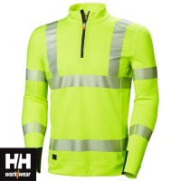 Helly Hansen Lifa Active Hi Vis Half Zip Baselayer Top - 75110
