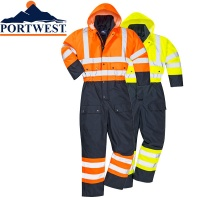 Hi Vis Contrast Quilted Coverall - S485