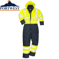 Portwest Hi Vis Contrast Quilted Coverall - S485
