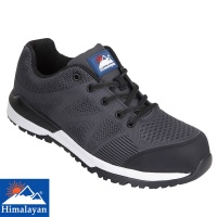 Himalayan Black Bounce Non Metallic Fibre Glass Toe Cap Safety Trainer - 4314