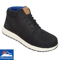 Himalayan Black Urban Nubuck Sneaker Style Fibre Glass Toe Cap Safety Boot - 4413