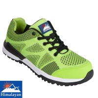 Himalayan Green Bounce Non Metallic Fibre Glass Toe Cap Safety Trainer - 4311