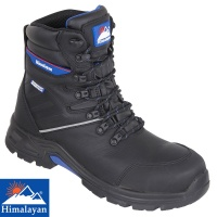 Himalayan Black High Cut Waterproof Fibre Glass Toe Cap Safety Boot - 5210