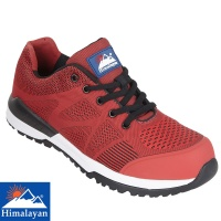 Himalayan Red Bounce Non Metallic Fibre Glass Toe Cap Safety Trainer - 4313