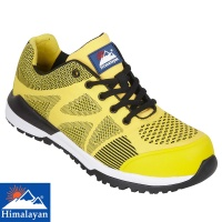 Himalayan Yellow Bounce Non Metallic Fibre Glass Toe Cap Safety Trainer - 4312