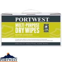 Portwest Multi-Purpose Dry Wipes (150 Wipes) - IW90