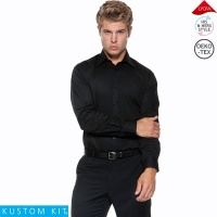 Kustom Kit Mens Long Sleeve Bar Shirt - KK121