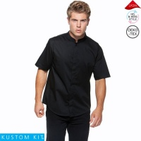 Kustom Kit Mens Mandarin Collar Bar Shirt - KK122