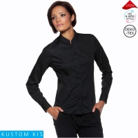 Ladies Long Sleeve Mandarin Collar Bar Shirt - KK740
