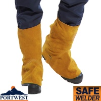 Portwest Leather Safety Welding Boot Cover - SW32