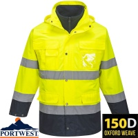 Portwest Waterproof Hi-Vis Lite 3 in 1 Jacket - S162