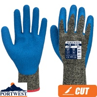 Portwest Aramid HR Cut Latex Glove - A611