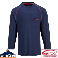 Portwest Bizflame Flame Retardant Crew Neck Jumper- FR01