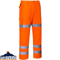 Portwest Hi-Vis Three Band Combat Trousers - RT49