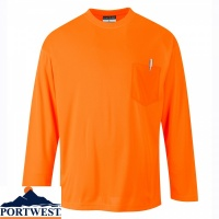 Portwest Day-Vis Long Sleeve T-Shirt - S579