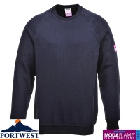 Portwest Flame Retardant Anti Static Long Sleeve Sweatshirt - FR12