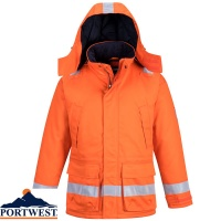 Portwest Flame Retardant Araflame Insulated Winter Jacket  - AF82