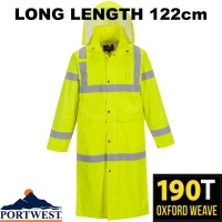 Portwest Waterproof Hi-Vis Coat 122cm - H445