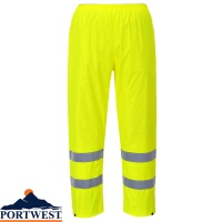 Portwest Hi-Vis Light Rain Trousers - H441