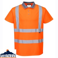 Portwest Hi Vis Polo Shirt GO/RT - RT22