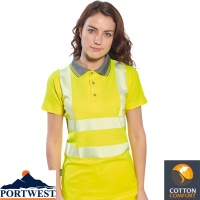 Portwest Ladies Hi Vis Pro Polo Shirt - LW72