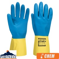 Portwest Double Dipped Chemical Protection Latex Gauntlet - A801