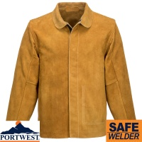 Portwest Leather Welding Jacket - SW34