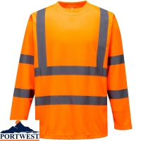 Portwest Hi-Vis Long Sleeved T-Shirt - S178