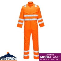 Portwest Modaflame RIS Flame Resistant Orange Coverall - MV91