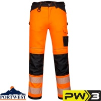 Portwest PW3 Hi-Vis Work Trousers - PW340