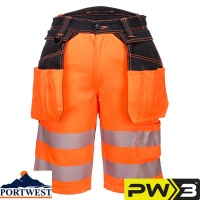Portwest PW3 Hi-Vis Work Shorts - PW343