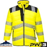 Portwest PW3 Hi-Vis Workwear Baffle Jacket - PW371