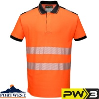 Portwest PW3 Hi-Vis Vision Polo Shirt - T180