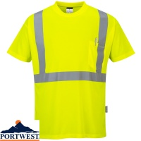 Portwest Hi-Vis Pocket T-Shirt - S190