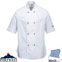 Portwest Rachel Ladies Short Sleeve Chefs Jacket - C737
