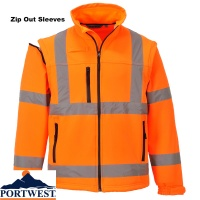Hi Vis Breathable Soft Shell Jacket  3L - S428