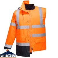 Portwest Hi Vis 4 in 1 Contrast Traffic Jacket - S471