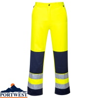 Portwest Seville Hi Vis Work Trousers - TX71