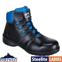 Portwest Steelite Lily Ladies Ankle Safety Boot S1P - FT49