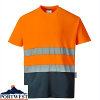 Portwest Two Tone Cotton Comfort T-Shirt - S173