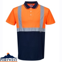 Portwest Two Tone Hi Vis Polo Shirt - S479