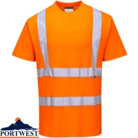 Portwest Hi Vis Cotton Comfort Short Sleeve T-Shirt - S170