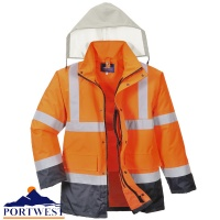 Hi Vis 4 in 1 Contrast Traffic Jacket - S471