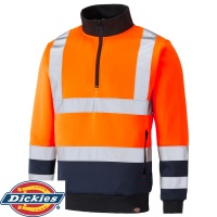 Dickies Two Tone Hi Vis Sweatshirt - SA22092
