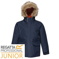 Regatta Kids Cadet Insulated Parka Jacket Waterproof Windproof - TRA309