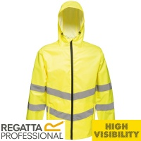 Regatta Hi Vis Pro Packaway Waterproof Jacket - TRW497
