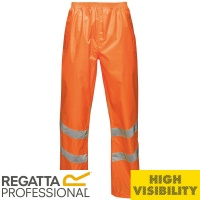 Regatta Hi-Vis Pro Packaway Waterproof Windproof Overtrousers - TRW498
